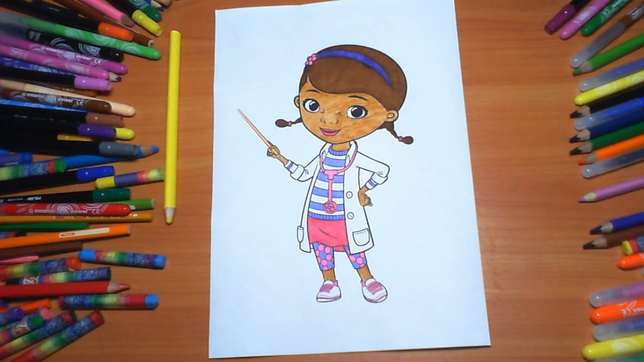 doc mcstuffins new coloring pages for kids colors coloring colored markers felt pens pencils
