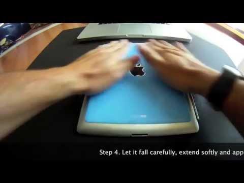 Smart resin skin for iPad installation