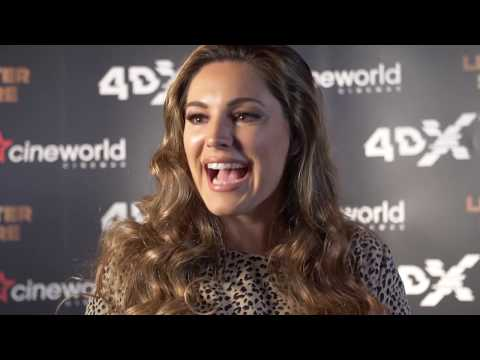 Stars react to 4DX at the gala opening at Cineworld Leicester Square