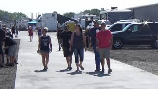 Looking at the people parked near the finish line at Redemption 14 on 8-25-18
