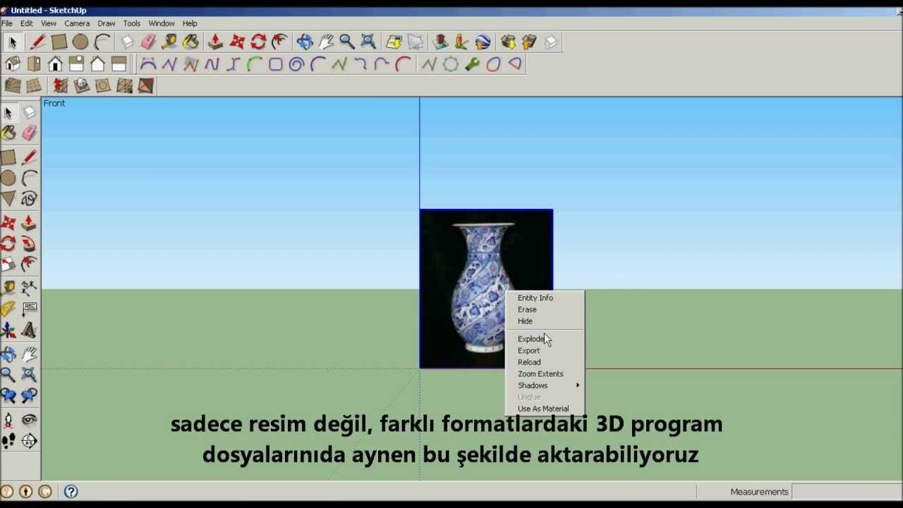 Sketchup import pictures resim aktarma youtube for Sketchup import