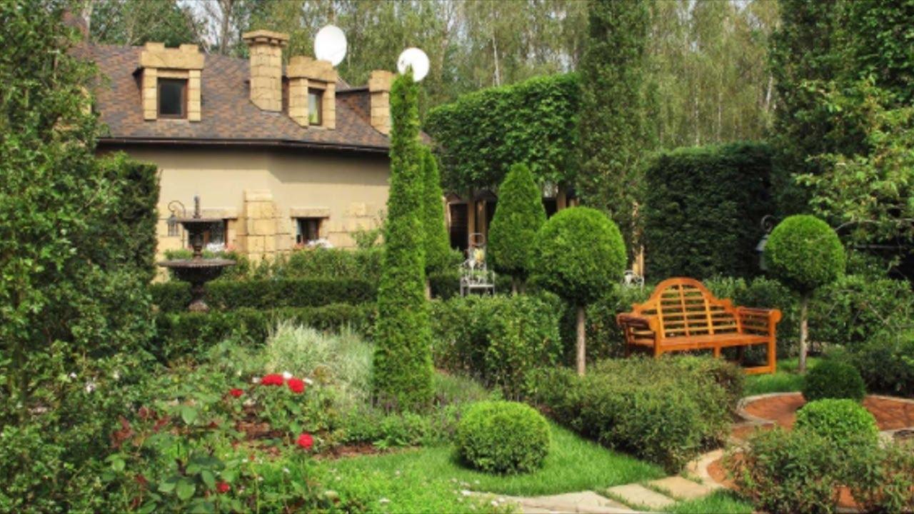 Шикарные цветы и кусты  загородного дома / Дизайн садового участка / Дизайн участка цветами
