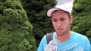 Uladzimir Ignatik po výhře ve druhém kole na turnaji Futures v Ústí n. O.