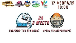 Гвардия-ТИУ (Тюмень) – УрГЭУ (Екатеринбург), СТУДЕНЧЕСКАЯ СУПЕРЛИГА. 17.02.2018