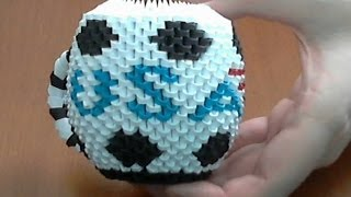 How To Make 3d Origami Football Cup U S A Part2