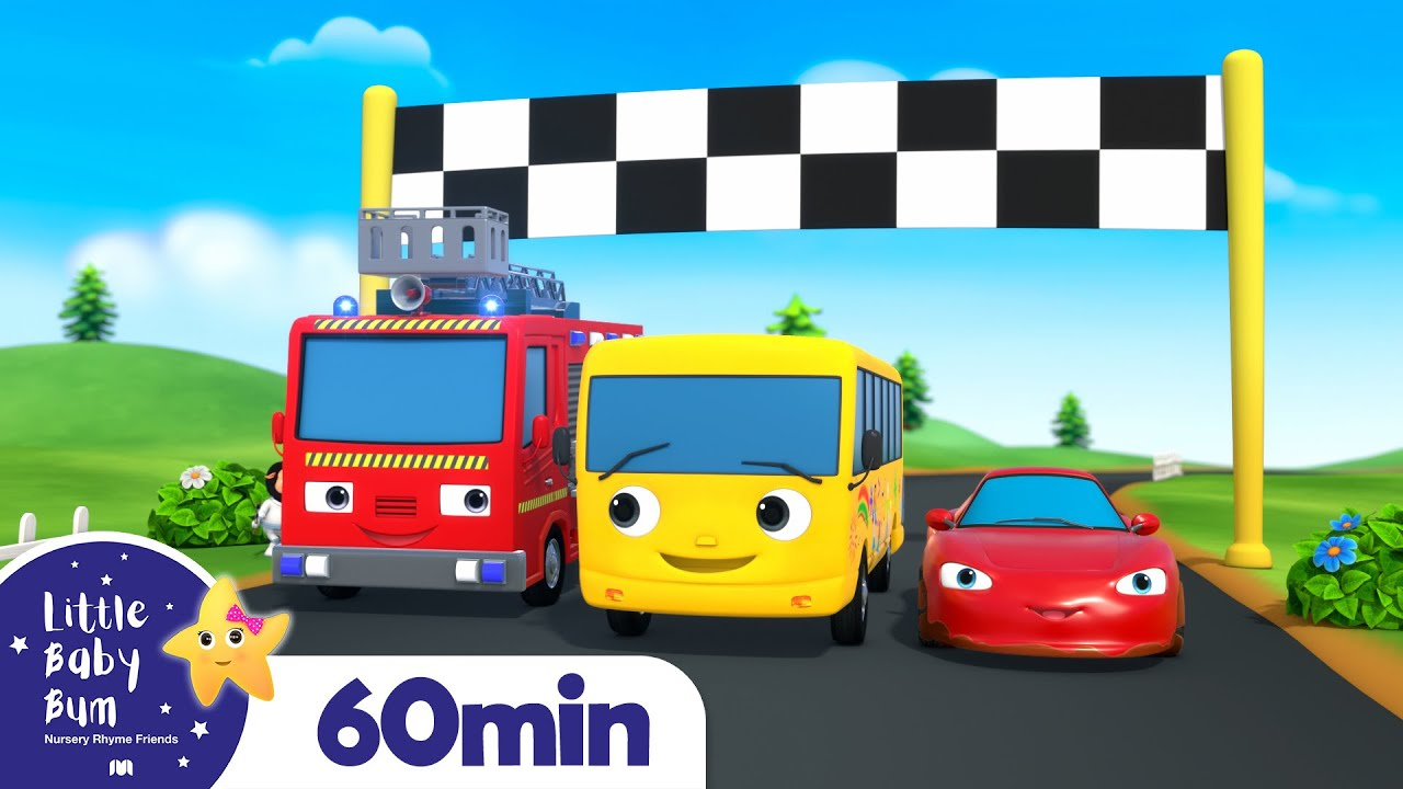 Vehicle Sounds Song +More Nursery Rhymes and Kids Songs | Little Baby Bum
