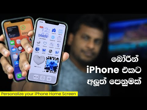 Customize your iPhone Home , Icon and Widgets Sinhala Tutorial