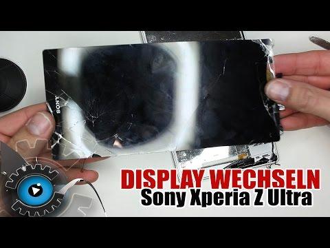 Sony Xperia Z Ultra Glas Display Wechseln Tauschen Reparieren [Deutsch/German]
