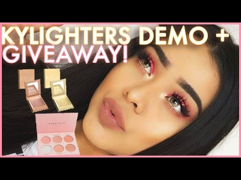KYLIGHTERS DEMO ALL 6 SHADES | GIVEAWAY W/ ANASTASIA X NICOLE PALETTE