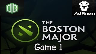 OG vs Ad Finem - Game 1 - Boston Major - Grand Final - Highlights