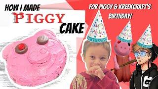 How To  Make A Roblox Piggy Cake-  Happy Birthday KreekCraft!