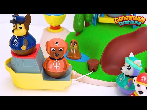 Let's Learn with Paw Patrol Weebles and Lighthouse Playset!