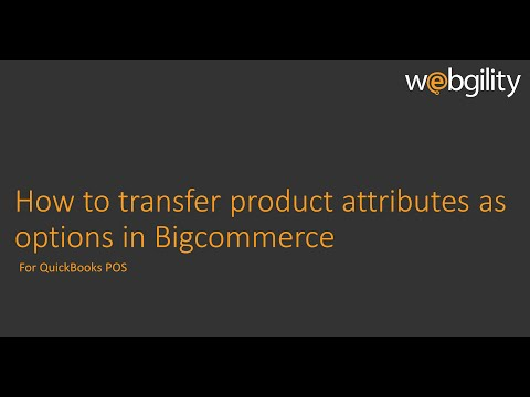 How to transfer product attributes as options in Bigcommerce