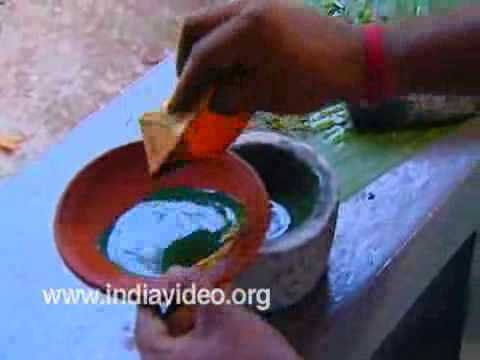 Mural Painting- Making Green Colour