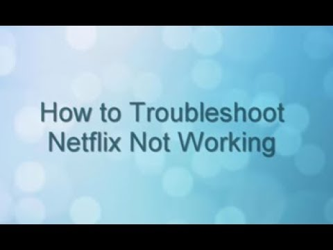 Panasonic - How to Troubleshoot Netflix Not Working
