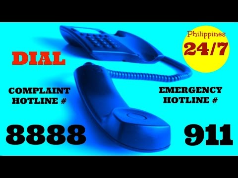 8888  & 911 Complaint And Emergency Hotline # 24/7 in Philippines