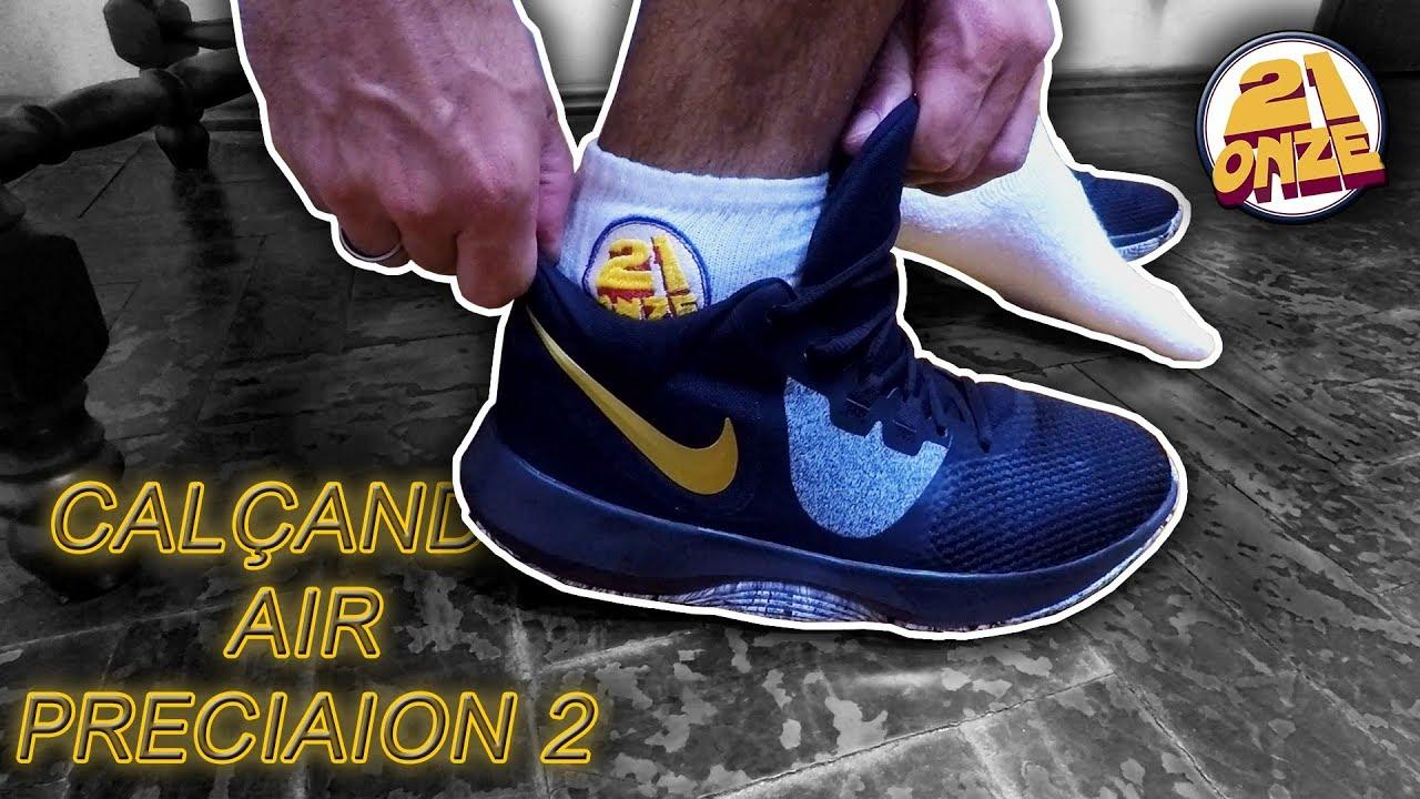 en pies imágenes de busca lo último color rápido Calçando o tênis Nike Air Precision II (Nike Air Precision 2 on feet)