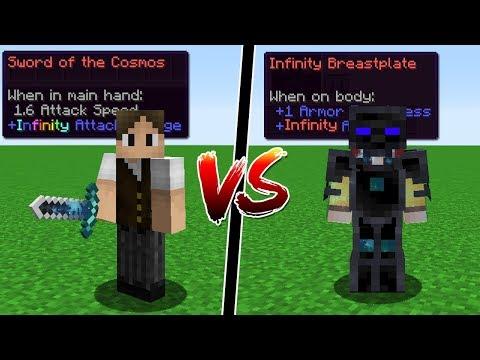 Minecraft: ESPADA DE DANO INFINITA DO AVARITIA VS ARMADURA INVENCÍVEL DO AVARITIA!