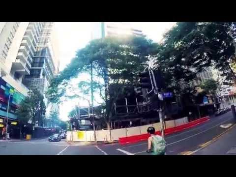 GOPRO 4: Cycling Story Bridge/ Brisbane CBD AUSTRALIA