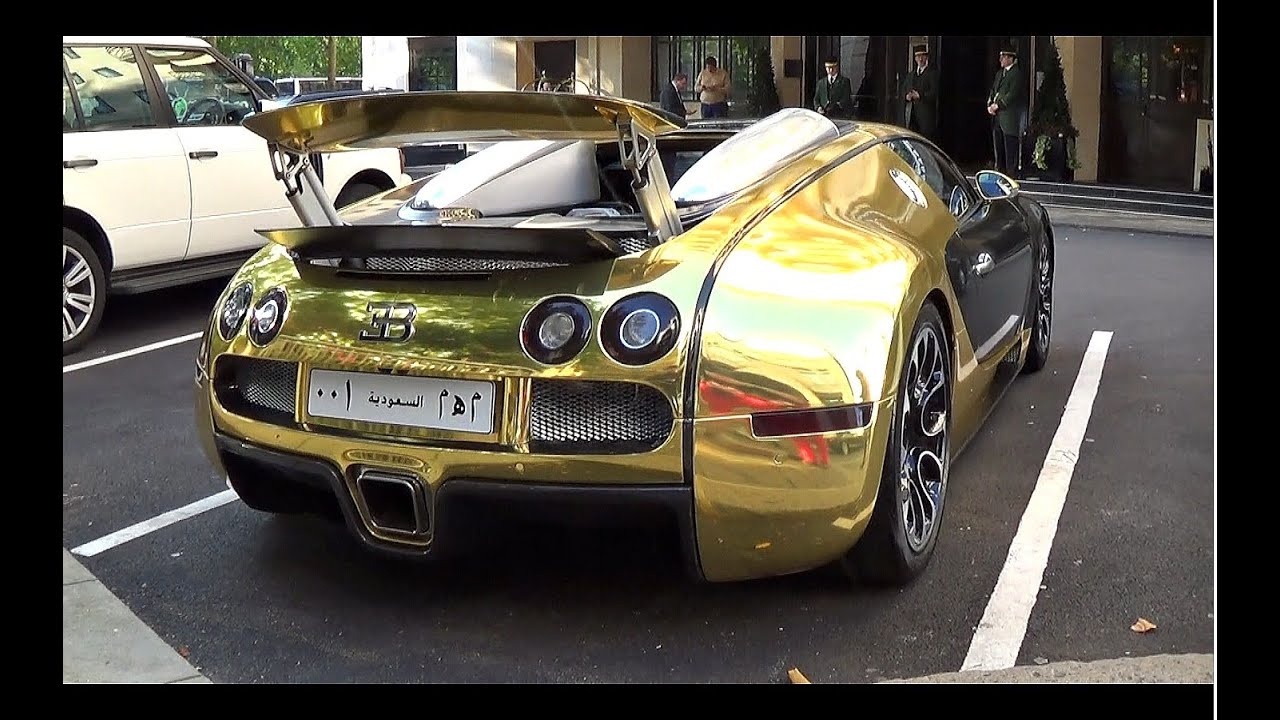 Golden Bugatti Veyron Grand Sport Revs 0 60mph Launch Youtube