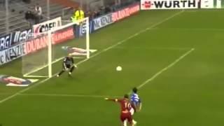 gol di Francesco Totti in Sampdoria-Roma 1-4 gol da posizione quasi impossibile