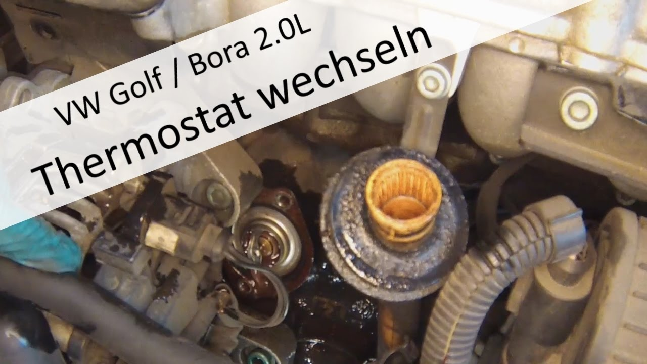 vw golf bora 2 0l thermostat wechseln youtube. Black Bedroom Furniture Sets. Home Design Ideas