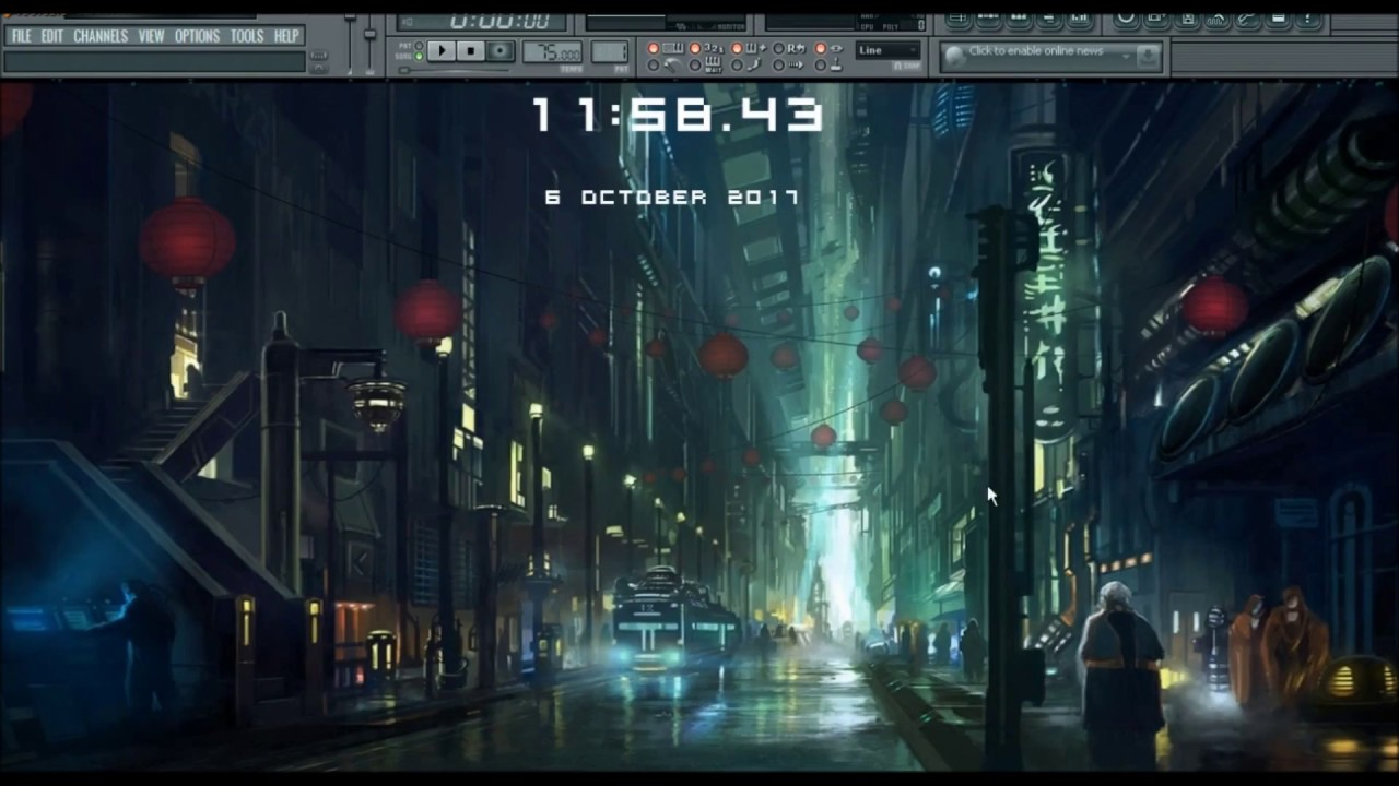 Fl studio anime wallpaper animated rain date and time - Anime rain wallpaper ...
