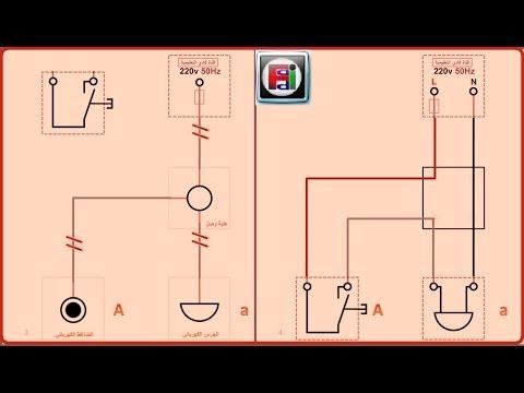 تمرين (2) تشغيل جرس كهربائي بضاغط جرس قناة فادي التعليمية