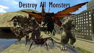 (GMOD ANIMATION) Godzilla: Destroy All Monsters