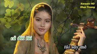 Karaoke HD __Tam Su Nguoi Hat Bai Que Huong ( beat goc Truong Vu )