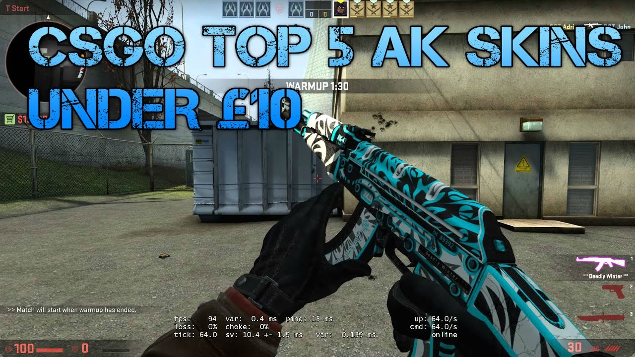 cs go top 5 ak skins under 10 best cheap ak skins youtube