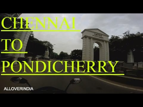 CHENNAI TO PONDICHERRY  ROADTRIP GOPRO MOTOVLOGGER BAJAJ PULSAR RS200 PART  1 ALLOVERINDIA 2016