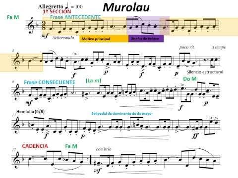Murolau. Melodía. Análisis musical 2:Motivos musicales, semifrases, progresiones melódicas, etc.