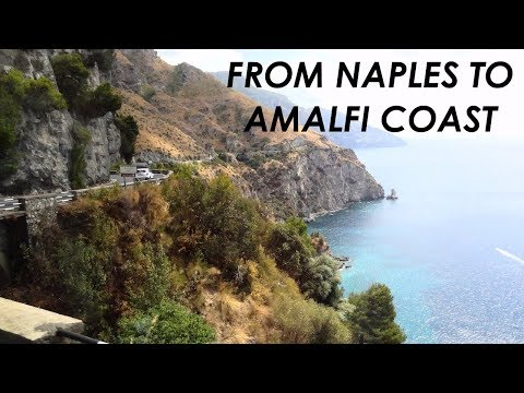 FROM NAPLES TO AMALFI COAST, POSITANO Cheap, Quick & Easy (train & Bus) [HD]