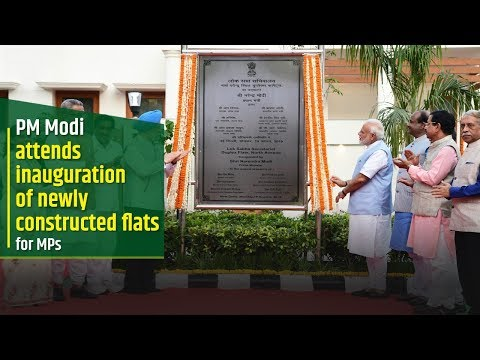 PM Modi inaugurates newly constructed flats for MPs