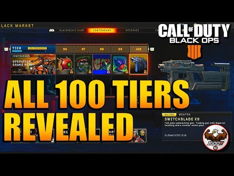 All New 100 Tiers in Black Market Showcase Revealed    BO4 Update 1.13