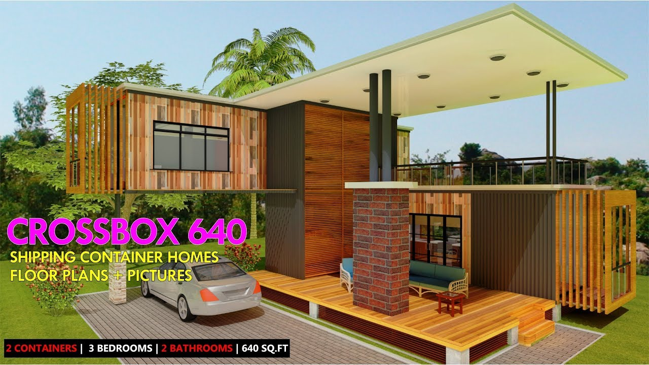 Shipping container homes plans and modular prefab design ideas crossbox 640 youtube - Bithcin shipping container house ii ...