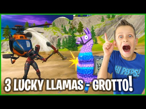 3 LUCKY LLAMAS FROM THE GROTTO!