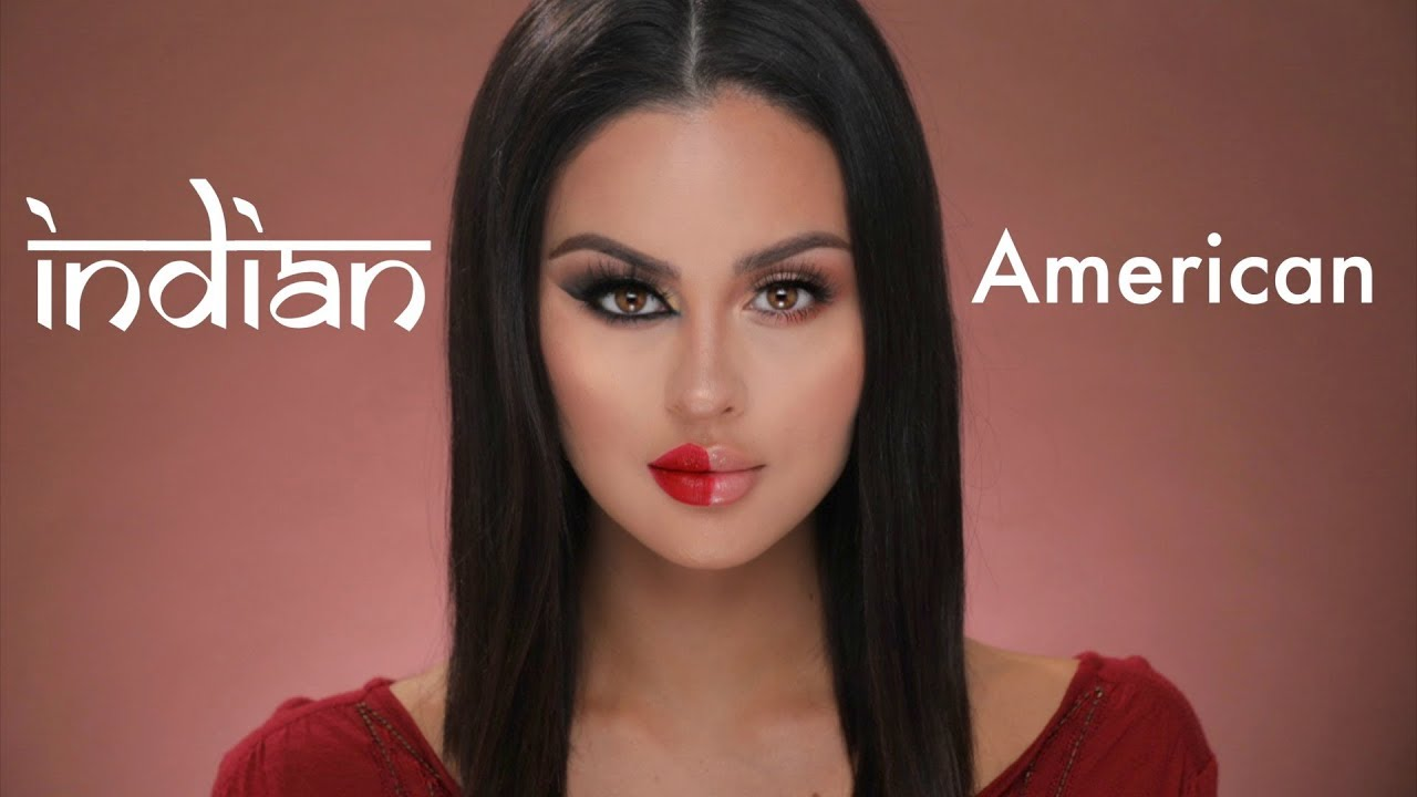 American VS Indian Makeup Tutorial - YouTube