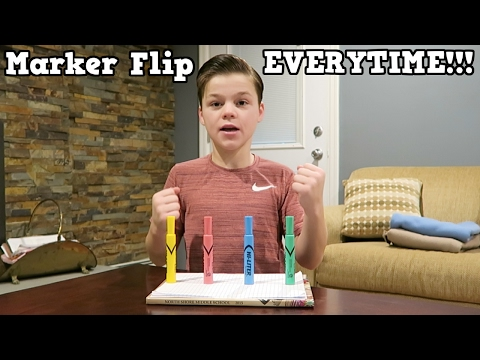 HOW TO LAND A MARKER FLIP EVERY TIME!!