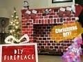 DIY Christmas Fireplace- How to make a Fireplace