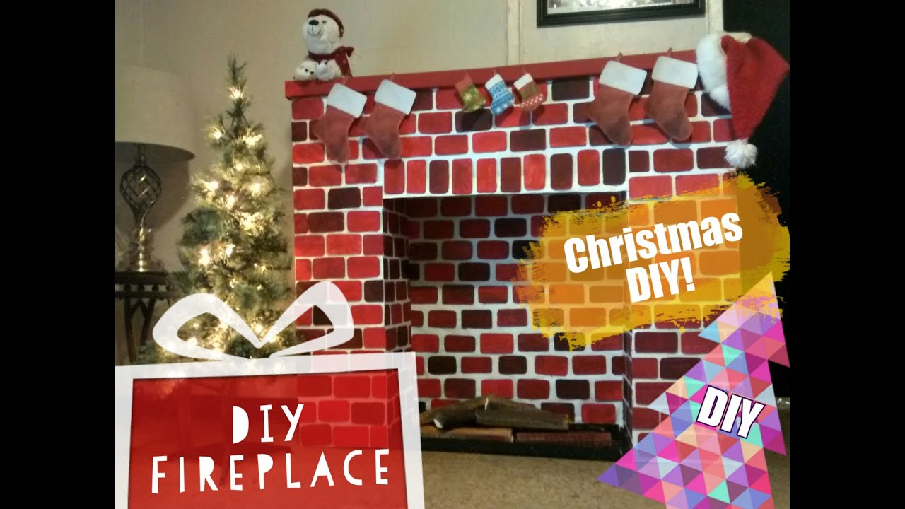 diy christmas fireplace how to make a fireplace youtube