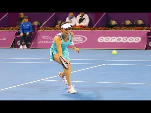 2018 Qatar Total Open First Round | Agnieszka Radwanska vs. Mona Barthel | WTA Highlights