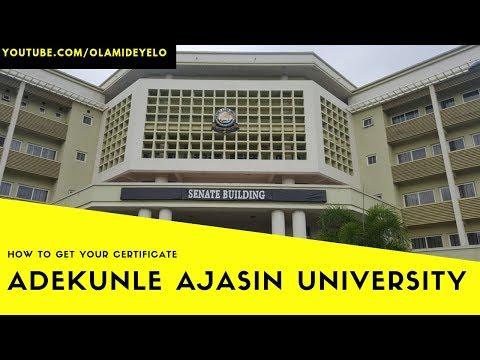 How To Get Your Certificate From Adekunle Ajasin University