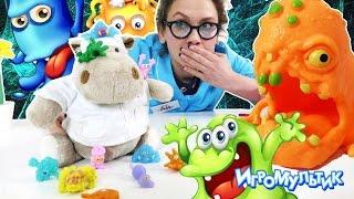 Нашествие микробов на АЙ КЛИНИКУ ДОКТОР АЙ в опасности! Клиника для игрушек Видео для детей