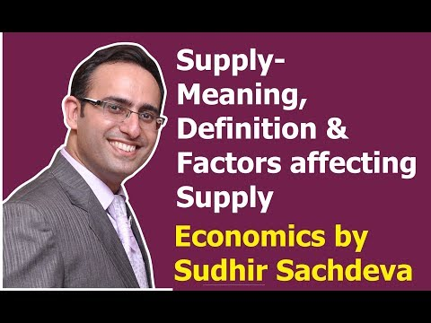 Micro Economics-Supply (Meaning, Definition and Factors affecting Supply)