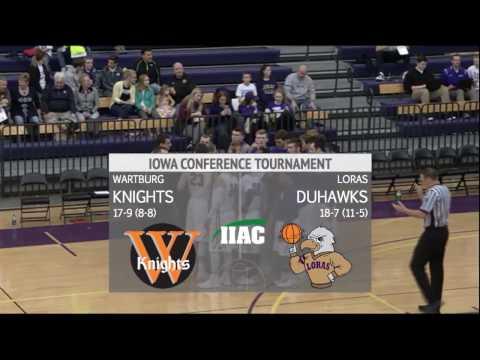 Wartburg College Knights vs Loras College Duhawks Basketball IIAC Conference Semifinal
