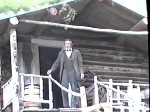 The Robert Service Show at the original cabin, Dawson City, Yukon