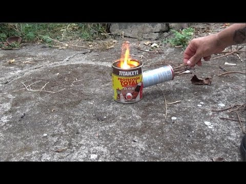 Homemade Rocket stove Wood Gas Camping Stove