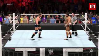 WWE 2K15 TLC 2014  Rusev vs Jack Swagger   United States Championship Match! MACHINIMA